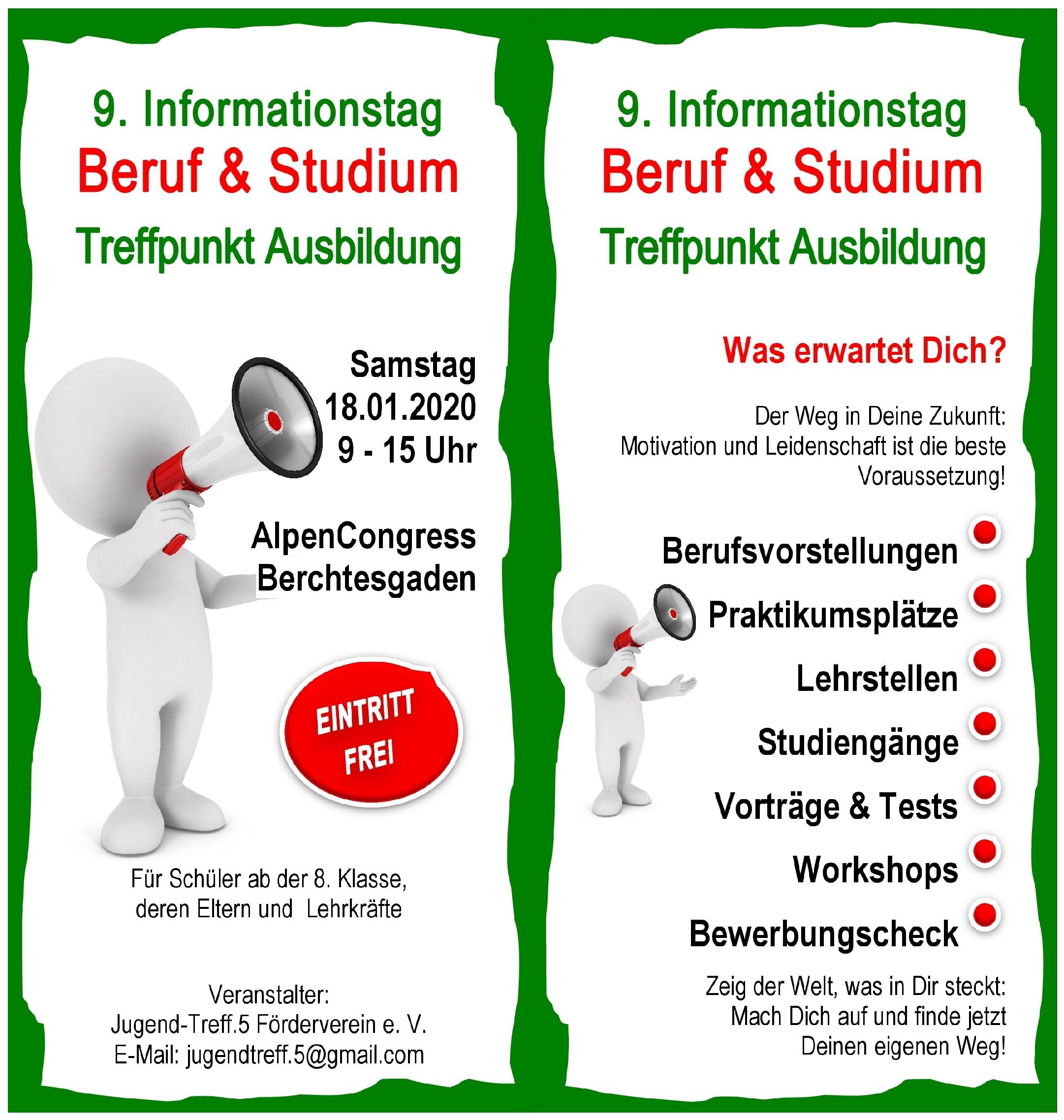 Lebenshilfe Berchtesgadener Land beim Informationstag Beruf und Studium