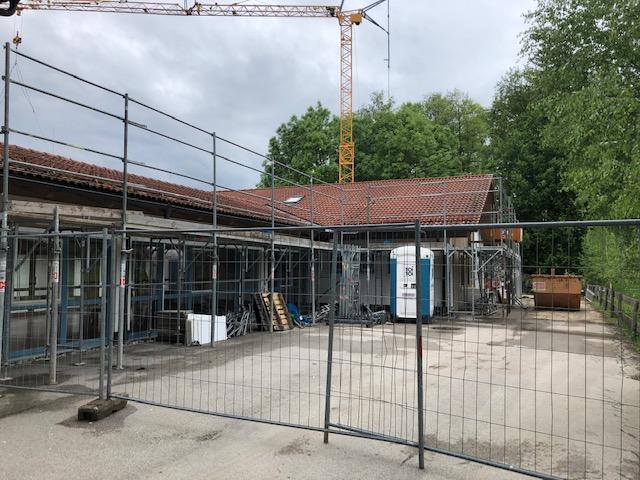 Baufortschritt beim Umbau am Wohnhaus in Adelstetten