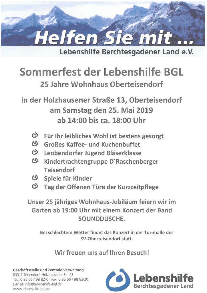 Sommerfest der Lebenshilfe Berchtesgadener Land