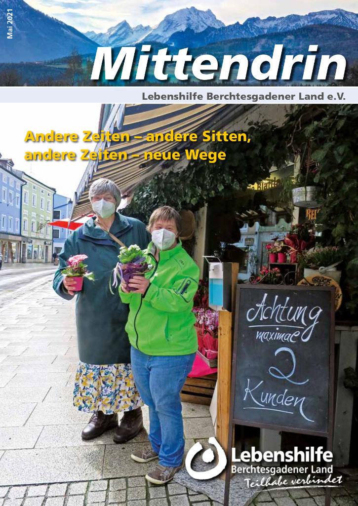Titelseite der Zeitschrift Mittendrin, Ausgabe Mai 2021