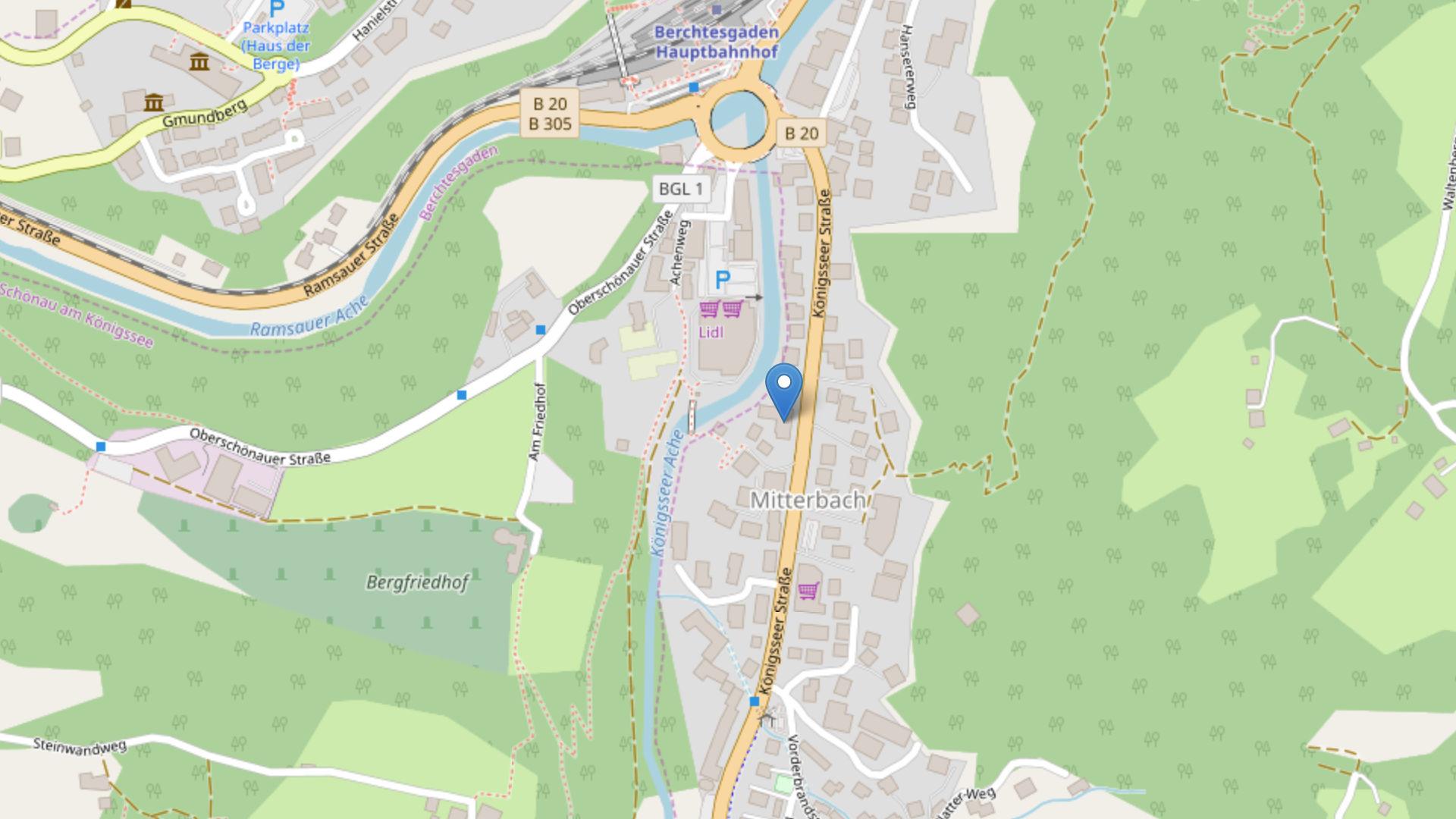 Kartenausschnitt von Openstreetmap