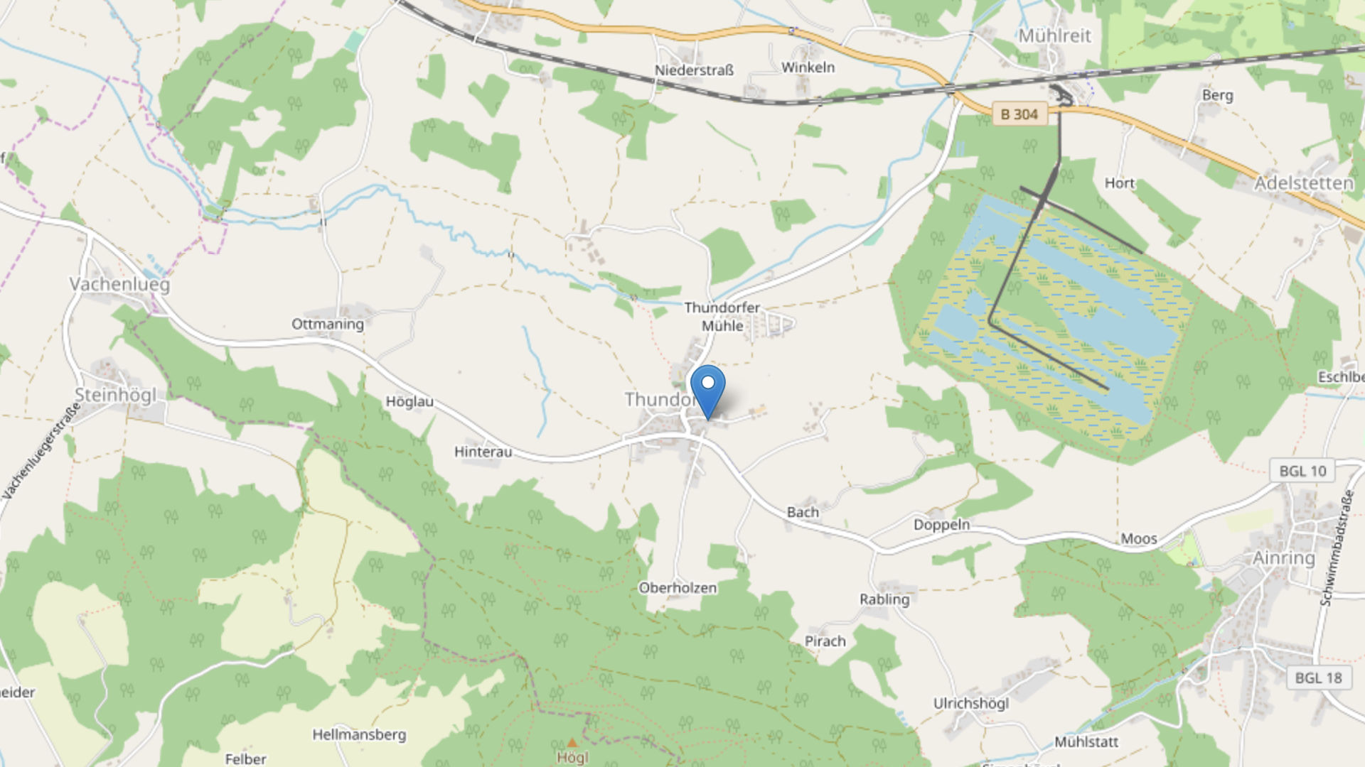 Kartenausschnitt Openstreetmap