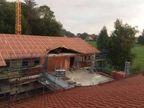 Baufortschritt in Adelstetten